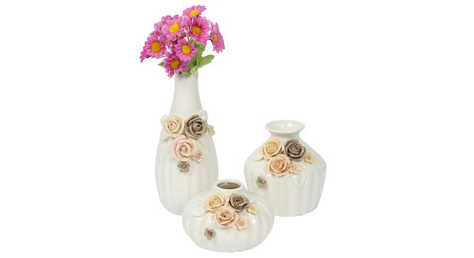 Jacob Vase - Set Of 3 (White) by Urban Ladder - Design 1 Full View - 317440