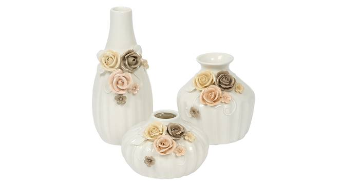 Jacob Vase - Set Of 3 (White) by Urban Ladder - Front View Design 1 - 317441
