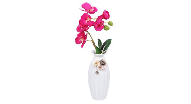 Hugo Vase (White) by Urban Ladder - Design 1 Full View - 317528