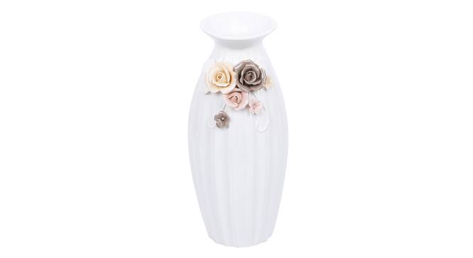 Hugo Vase (White) by Urban Ladder - Front View Design 1 - 317529