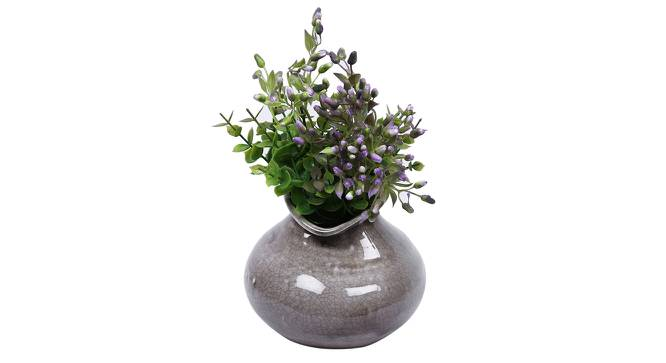 Felix Vase (Grey) by Urban Ladder - Design 1 Full View - 317548