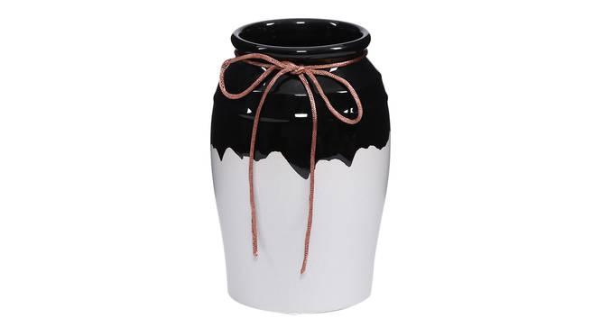 Lauge Vase (Black) by Urban Ladder - Front View Design 1 - 317607