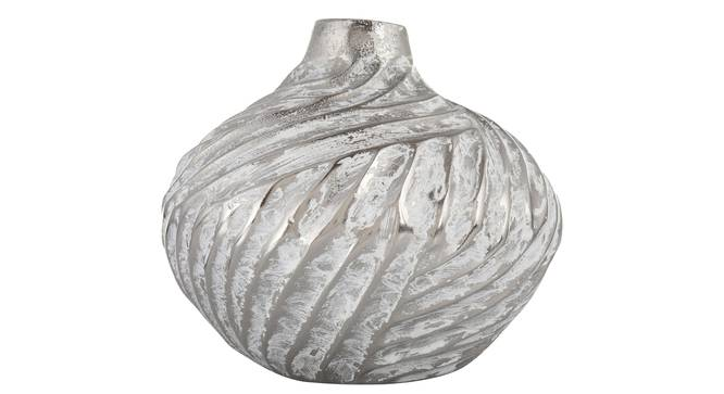 Flint Vase (Silver, Table Vase Type) by Urban Ladder - Design 1 Full View - 317629