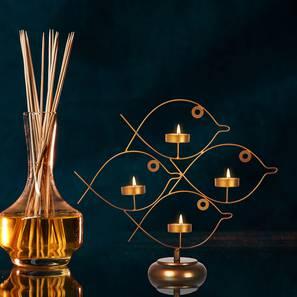 Axton Tea light Holder (Gold) by Urban Ladder - Design 1 - 317655