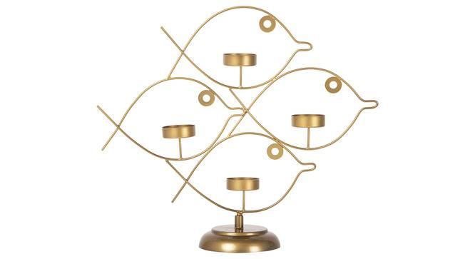 Axton Tea light Holder (Gold) by Urban Ladder - Cross View Design 1 - 317657
