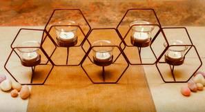 Halder Tea light Holder (Brown) by Urban Ladder - Design 1 - 317677