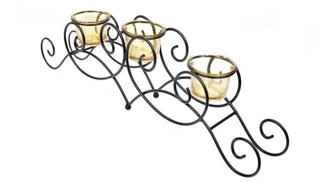 Favre Tea light Holder (Black) by Urban Ladder - Cross View Design 1 - 317682