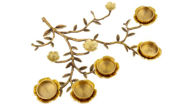 Kin Tea light Holder (Gold) by Urban Ladder - Rear View Design 1 - 317690