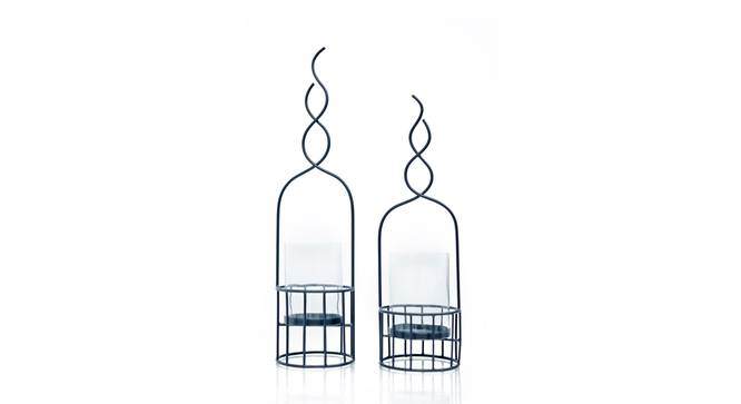 Shany Candle Holder- Set of 2 (Black) by Urban Ladder - Cross View Design 1 - 317751