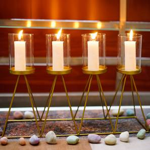 Musa Candle Holder (Gold) by Urban Ladder - Front View Design 1 - 317754