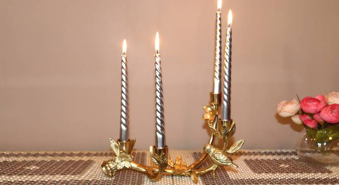Orji Candle Holder (Gold) by Urban Ladder - Front View Design 1 - 317758