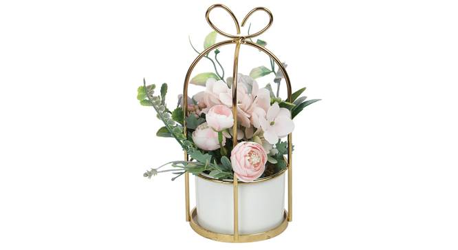 Zoe Artificial Plant With Pot (Pink) by Urban Ladder - Design 1 Full View - 317839