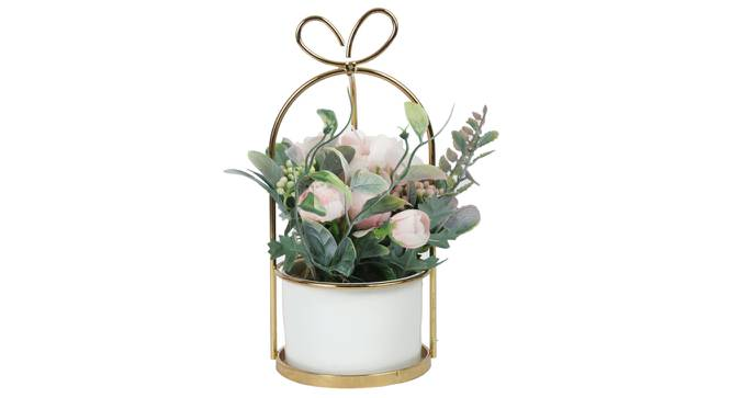 Zoe Artificial Plant With Pot (Pink) by Urban Ladder - Front View Design 1 - 317840