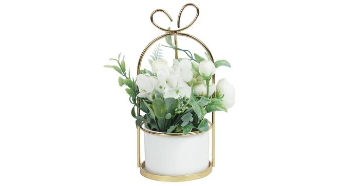 Anna Artificial Plant With Pot (White) by Urban Ladder - Design 1 Full View - 317843