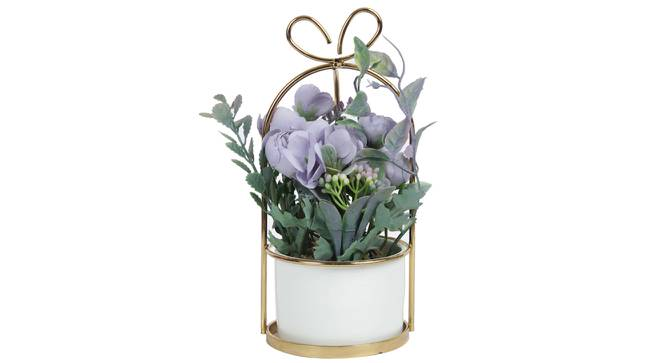 Elisa Artificial Plant With Pot (Purple) by Urban Ladder - Front View Design 1 - 317856