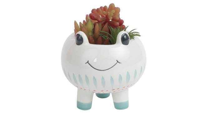 Giulia Artificial Plant With Pot (Red) by Urban Ladder - Design 1 Full View - 317919
