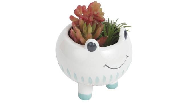 Giulia Artificial Plant With Pot (Red) by Urban Ladder - Front View Design 1 - 317920