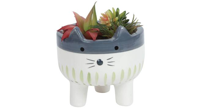Alice Artificial Plant With Pot (Red) by Urban Ladder - Design 1 Full View - 317926
