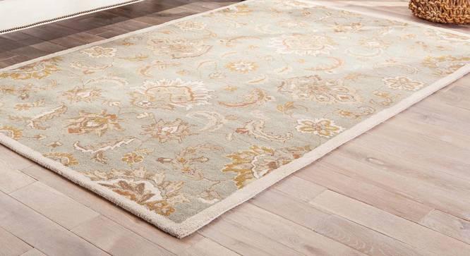 """Faiz Hand Tufted Carpet (122 x 183 cm  (48"""" x 72"""") Carpet Size, Antique White) by Urban Ladder - Front View Design 1 - 317950"""