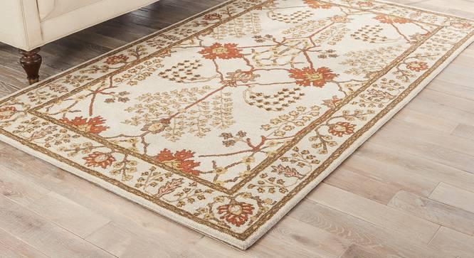 "Armaan Hand Tufted Carpet (152 x 244 cm  (60"" x 96"") Carpet Size, Antique White) by Urban Ladder - Cross View Design 1 - 317959"