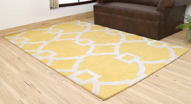 """Aabaad Hand Tufted Carpet (White, 152 x 244 cm  (60"""" x 96"""") Carpet Size) by Urban Ladder - Front View Design 1 - 317982"""