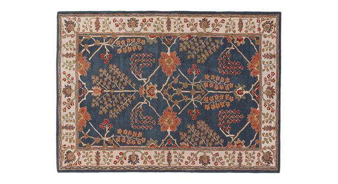 "Armaan Hand Tufted Carpet (107 x 168 cm  (42"" x 66"") Carpet Size, Indigo) by Urban Ladder - Cross View Design 1 - 317999"