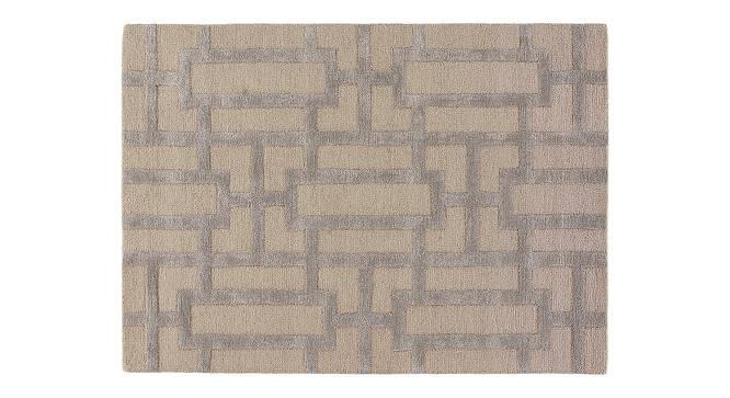 "Maqdoor Hand Tufted Carpet (Grey, 107 x 168 cm  (42"" x 66"") Carpet Size) by Urban Ladder - Cross View Design 1 - 318003"