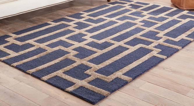"""Maqdoor Hand Tufted Carpet (107 x 168 cm  (42"""" x 66"""") Carpet Size, Dark Grey) by Urban Ladder - Front View Design 1 - 318006"""