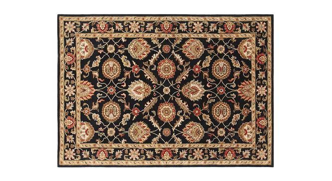 "Tehseen Hand Tufted Carpet (152 x 244 cm  (60"" x 96"") Carpet Size, Ebony) by Urban Ladder - Cross View Design 1 - 318023"