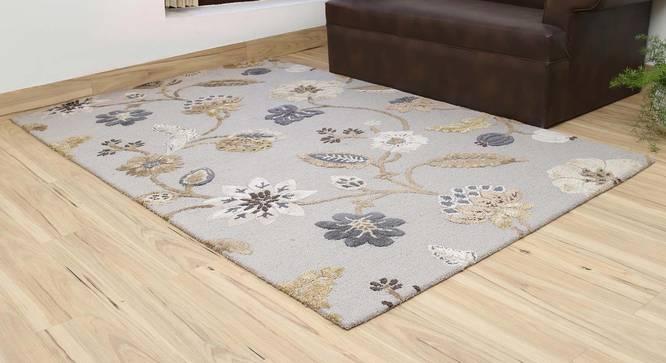 "Sabab Hand Tufted Carpet (107 x 168 cm  (42"" x 66"") Carpet Size, Ashwood) by Urban Ladder - Front View Design 1 - 318048"