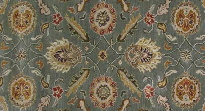 "Tehseen Hand Tufted Carpet (244 x 305 cm  (96"" x 120"") Carpet Size, Sea Green) by Urban Ladder - Cross View Design 1 - 318053"