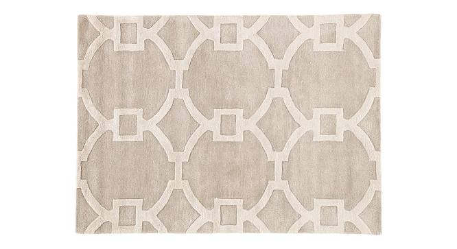 """Aabaad Hand Tufted Carpet (152 x 244 cm  (60"""" x 96"""") Carpet Size, Antique White) by Urban Ladder - Cross View Design 1 - 318069"""