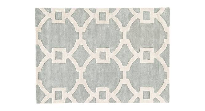 """Aabaad Hand Tufted Carpet (White, 152 x 244 cm  (60"""" x 96"""") Carpet Size) by Urban Ladder - Cross View Design 1 - 318081"""