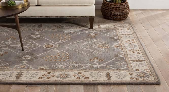 "Armaan Hand Tufted Carpet (152 x 244 cm  (60"" x 96"") Carpet Size, Antique White) by Urban Ladder - Front View Design 1 - 318084"