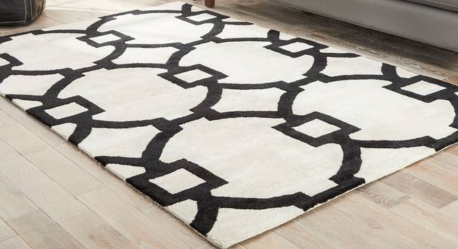 """Aabaad Hand Tufted Carpet (White, 152 x 244 cm  (60"""" x 96"""") Carpet Size) by Urban Ladder - Front View Design 1 - 318092"""