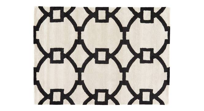"""Aabaad Hand Tufted Carpet (White, 152 x 244 cm  (60"""" x 96"""") Carpet Size) by Urban Ladder - Cross View Design 1 - 318093"""