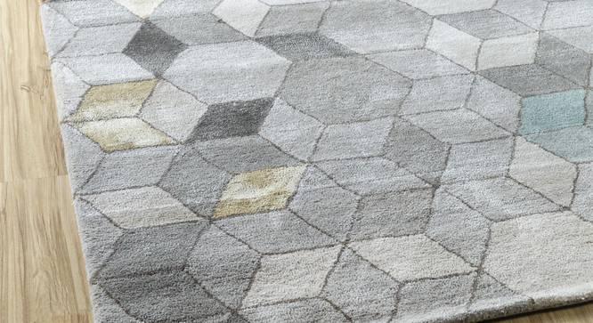 "Galicha Hand Tufted Carpet (152 x 244 cm  (60"" x 96"") Carpet Size, Ashwood) by Urban Ladder - Front View Design 1 - 318104"
