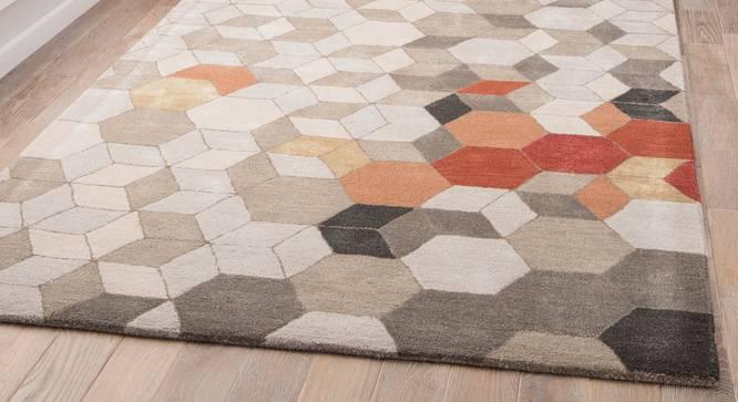 "Galicha Hand Tufted Carpet (152 x 244 cm  (60"" x 96"") Carpet Size, Antique White) by Urban Ladder - Front View Design 1 - 318108"