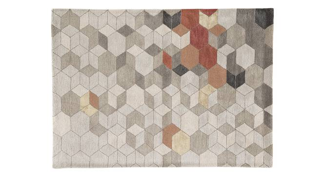 "Galicha Hand Tufted Carpet (152 x 244 cm  (60"" x 96"") Carpet Size, Antique White) by Urban Ladder - Cross View Design 1 - 318109"