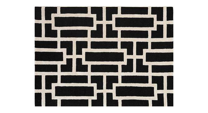 "Maqdoor Hand Tufted Carpet (152 x 244 cm  (60"" x 96"") Carpet Size, Ebony) by Urban Ladder - Cross View Design 1 - 318133"