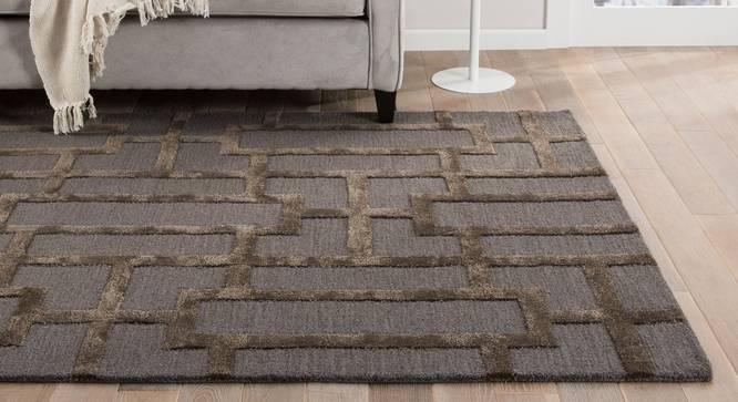 "Maqdoor Hand Tufted Carpet (122 x 183 cm  (48"" x 72"") Carpet Size, Deep Blue) by Urban Ladder - Front View Design 1 - 318136"
