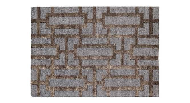 "Maqdoor Hand Tufted Carpet (122 x 183 cm  (48"" x 72"") Carpet Size, Deep Blue) by Urban Ladder - Cross View Design 1 - 318137"