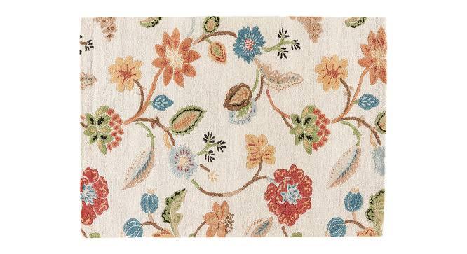 "Sabab Hand Tufted Carpet (244 x 305 cm  (96"" x 120"") Carpet Size, Antique White) by Urban Ladder - Cross View Design 1 - 318141"