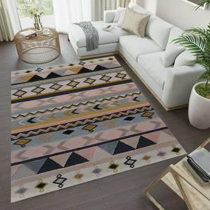 "Dalian Carpet (152 x 244 cm  (60"" x 96"") Carpet Size, Peach, Hand Tufted Carpet Type) by Urban Ladder - Design 1 - 318175"