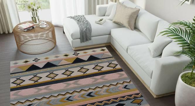 "Dalian Carpet (152 x 244 cm  (60"" x 96"") Carpet Size, Peach, Hand Tufted Carpet Type) by Urban Ladder - Front View Design 1 - 318176"