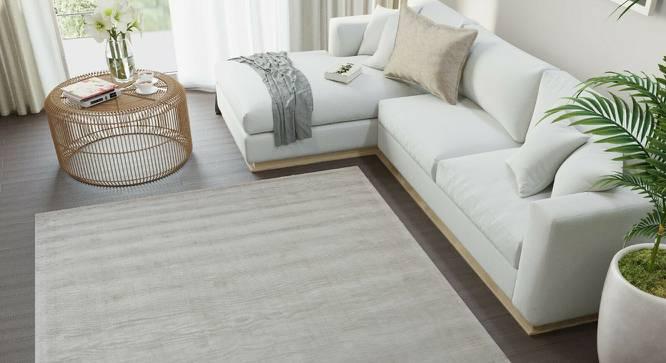 "Damita Carpet (Ivory, Hand Tufted Carpet Type, 160 x 190 cm (63"" x 75"") Carpet Size) by Urban Ladder - Front View Design 1 - 318196"