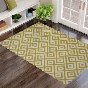 "kaia Dhurrie (Yellow, 122 x 183 cm  (48"" x 72"") Carpet Size) by Urban Ladder - Design 1 - 318203"