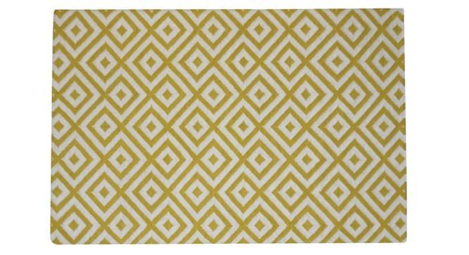 "kaia Dhurrie (Yellow, 122 x 183 cm  (48"" x 72"") Carpet Size) by Urban Ladder - Design 1 Side View - 318205"