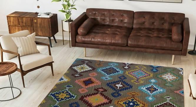 "Georgen Carpet (152 x 244 cm  (60"" x 96"") Carpet Size, Hand Tufted Carpet Type) by Urban Ladder - Design 1 Side View - 318221"