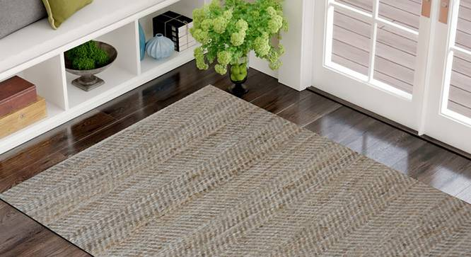 """Naia Dhurrie (Brown, 122 x 183 cm  (48"""" x 72"""") Carpet Size) by Urban Ladder - Front View Design 1 - 318236"""